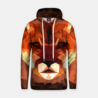 Cougar head, wild animal poly print  Hoodie miniature