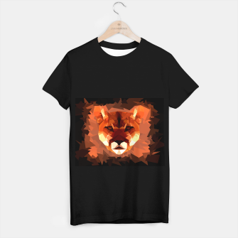 Cougar head, wild animal poly print  T-shirt regular miniature