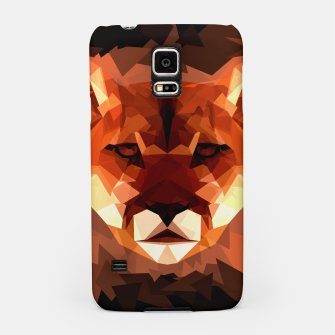Cougar head, wild animal poly print  Samsung Case miniature