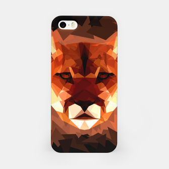 Cougar head, wild animal poly print  iPhone Case miniature