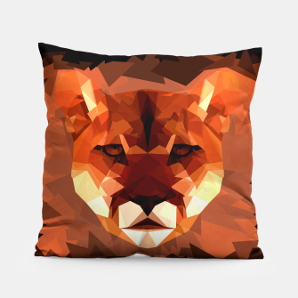 Cougar head, wild animal poly print  Pillow miniature