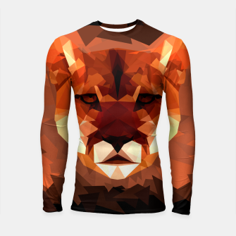 Cougar head, wild animal poly print  Longsleeve rashguard  miniature