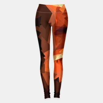 Cougar head, wild animal poly print  Leggings miniature