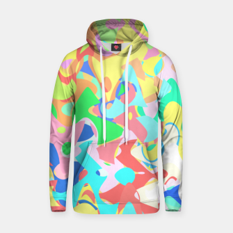 Miniaturka Chaotic vision, vibrant colors and shapes, funny mess Hoodie, Live Heroes