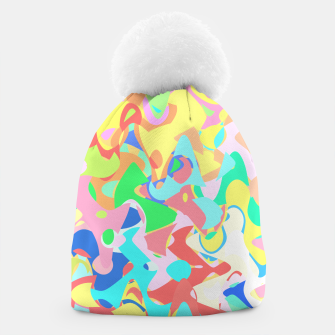 Miniaturka Chaotic vision, vibrant colors and shapes, funny mess Beanie, Live Heroes