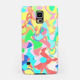 Miniaturka Chaotic vision, vibrant colors and shapes, funny mess Samsung Case, Live Heroes