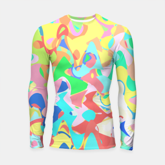 Thumbnail image of Chaotic vision, vibrant colors and shapes, funny mess Longsleeve rashguard , Live Heroes