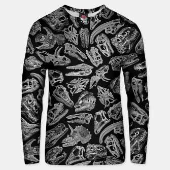 Thumbnail image of Paleontology Dream Dinosaur Fossil Skulls Pattern II Unisex sweater, Live Heroes