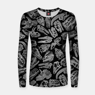 Paleontology Dream Dinosaur Fossil Skulls Pattern II Women sweater thumbnail image