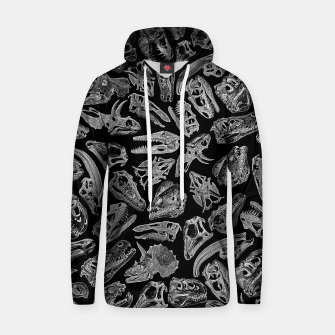 Thumbnail image of Paleontology Dream Dinosaur Fossil Skulls Pattern II Hoodie, Live Heroes