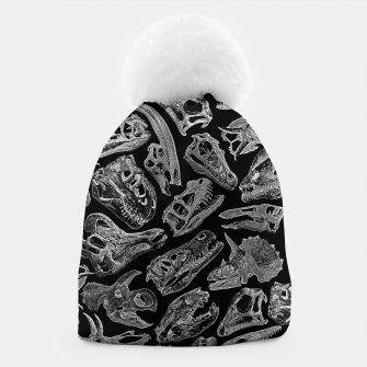 Thumbnail image of Paleontology Dream Dinosaur Fossil Skulls Pattern II Beanie, Live Heroes