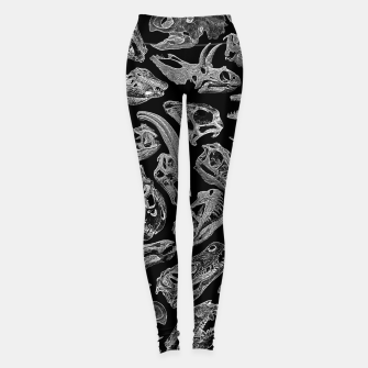 Thumbnail image of Paleontology Dream Dinosaur Fossil Skulls Pattern II Leggings, Live Heroes