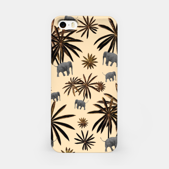 Palm Tree Elephant Jungle Pattern #3 (Kids Collection) #decor #art iPhone-Hülle thumbnail image