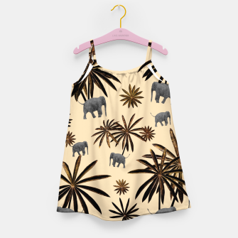 Palm Tree Elephant Jungle Pattern #3 (Kids Collection) #decor #art Mädchenkleid thumbnail image