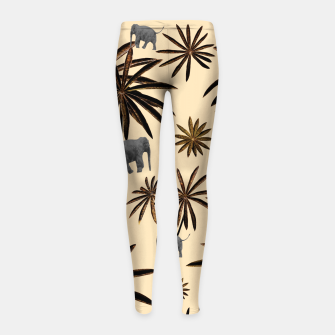 Imagen en miniatura de Palm Tree Elephant Jungle Pattern #3 (Kids Collection) #decor #art Kinder-Leggins, Live Heroes