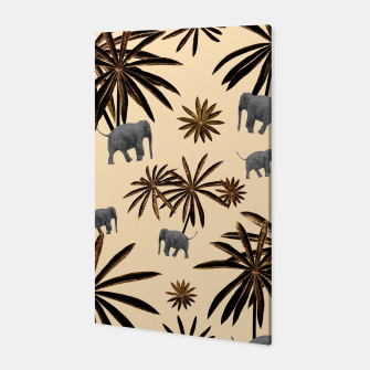 Imagen en miniatura de Palm Tree Elephant Jungle Pattern #3 (Kids Collection) #decor #art Canvas, Live Heroes