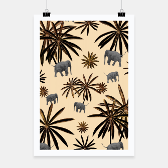 Imagen en miniatura de Palm Tree Elephant Jungle Pattern #3 (Kids Collection) #decor #art Plakat, Live Heroes