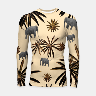 Imagen en miniatura de Palm Tree Elephant Jungle Pattern #3 (Kids Collection) #decor #art Longsleeve rashguard, Live Heroes