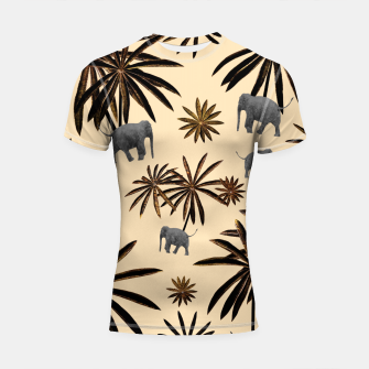 Imagen en miniatura de Palm Tree Elephant Jungle Pattern #3 (Kids Collection) #decor #art Shortsleeve rashguard, Live Heroes