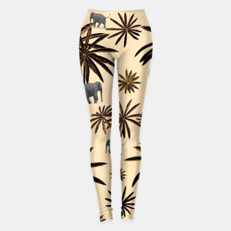 Imagen en miniatura de Palm Tree Elephant Jungle Pattern #3 (Kids Collection) #decor #art Leggings, Live Heroes