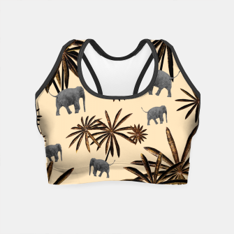 Imagen en miniatura de Palm Tree Elephant Jungle Pattern #3 (Kids Collection) #decor #art Crop Top, Live Heroes