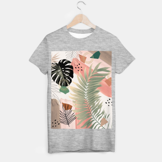 Palm Leaf Summer Glam #1 #tropical #decor #art  T-Shirt regulär thumbnail image