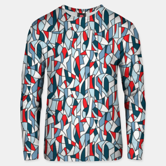 Modern Crowd in Red  Unisex sweater thumbnail image