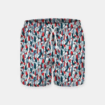 Modern Crowd in Red  Swim Shorts thumbnail image