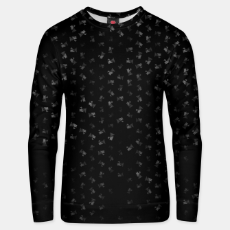 virgo zodiac sign pattern bw Unisex sweater thumbnail image