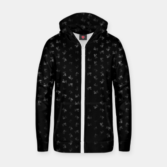 virgo zodiac sign pattern bw Zip up hoodie thumbnail image