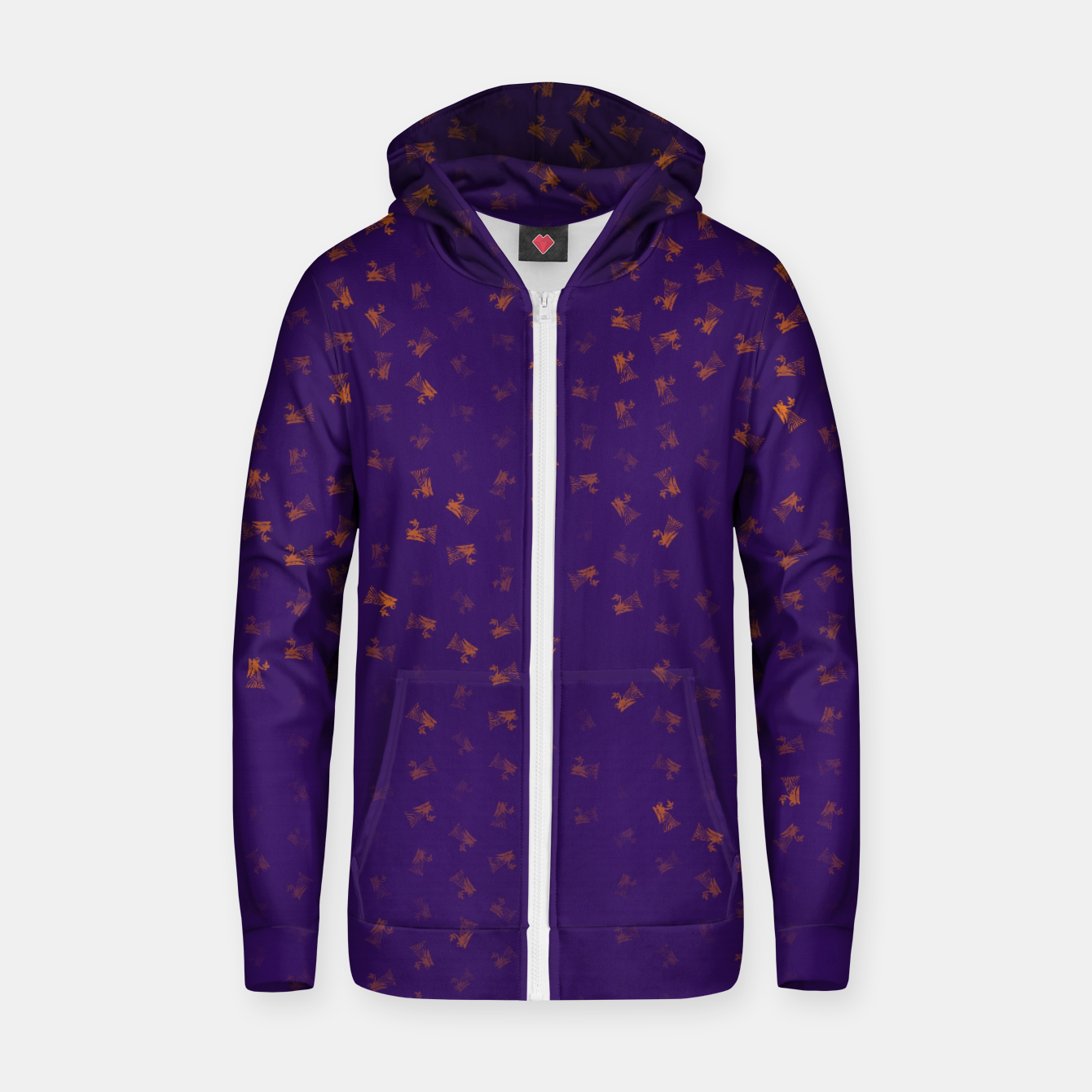 Image of virgo zodiac sign pattern po Zip up hoodie - Live Heroes