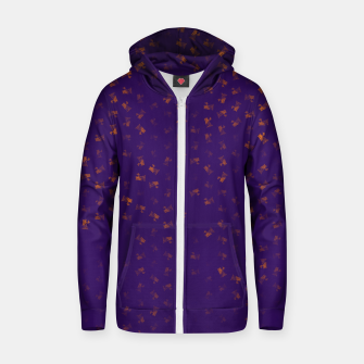 virgo zodiac sign pattern po Zip up hoodie thumbnail image