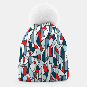Modern Crowd in Red  Beanie thumbnail image