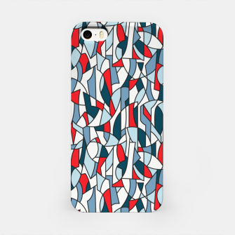 Modern Crowd in Red  iPhone Case thumbnail image