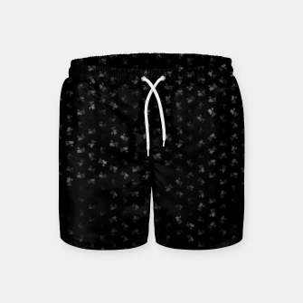 virgo zodiac sign pattern bw Swim Shorts thumbnail image