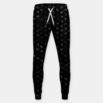virgo zodiac sign pattern bw Sweatpants thumbnail image