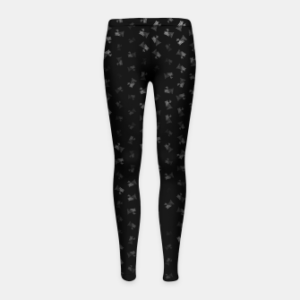 virgo zodiac sign pattern bw Girl's leggings thumbnail image