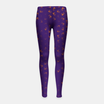 virgo zodiac sign pattern po Girl's leggings thumbnail image