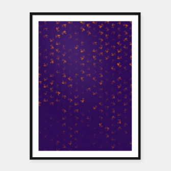 virgo zodiac sign pattern po Framed poster thumbnail image