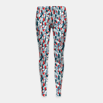 Modern Crowd in Red  Girl's leggings thumbnail image