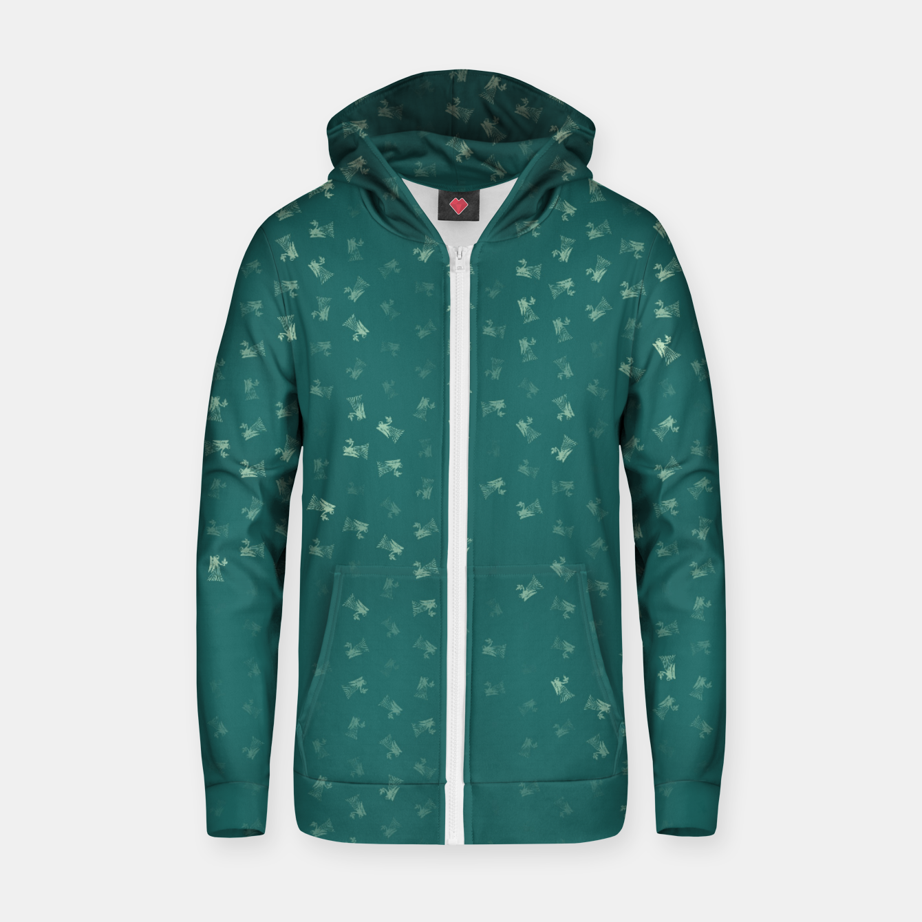 Image of virgo zodiac sign pattern tw Zip up hoodie - Live Heroes