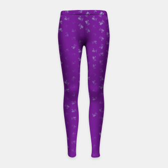 virgo zodiac sign pattern pt Girl's leggings thumbnail image