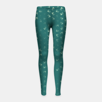 virgo zodiac sign pattern tw Girl's leggings thumbnail image