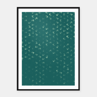 virgo zodiac sign pattern tw Framed poster thumbnail image