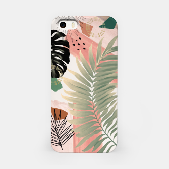 Palm Leaf Summer Glam #1 #tropical #decor #art  iPhone-Hülle thumbnail image