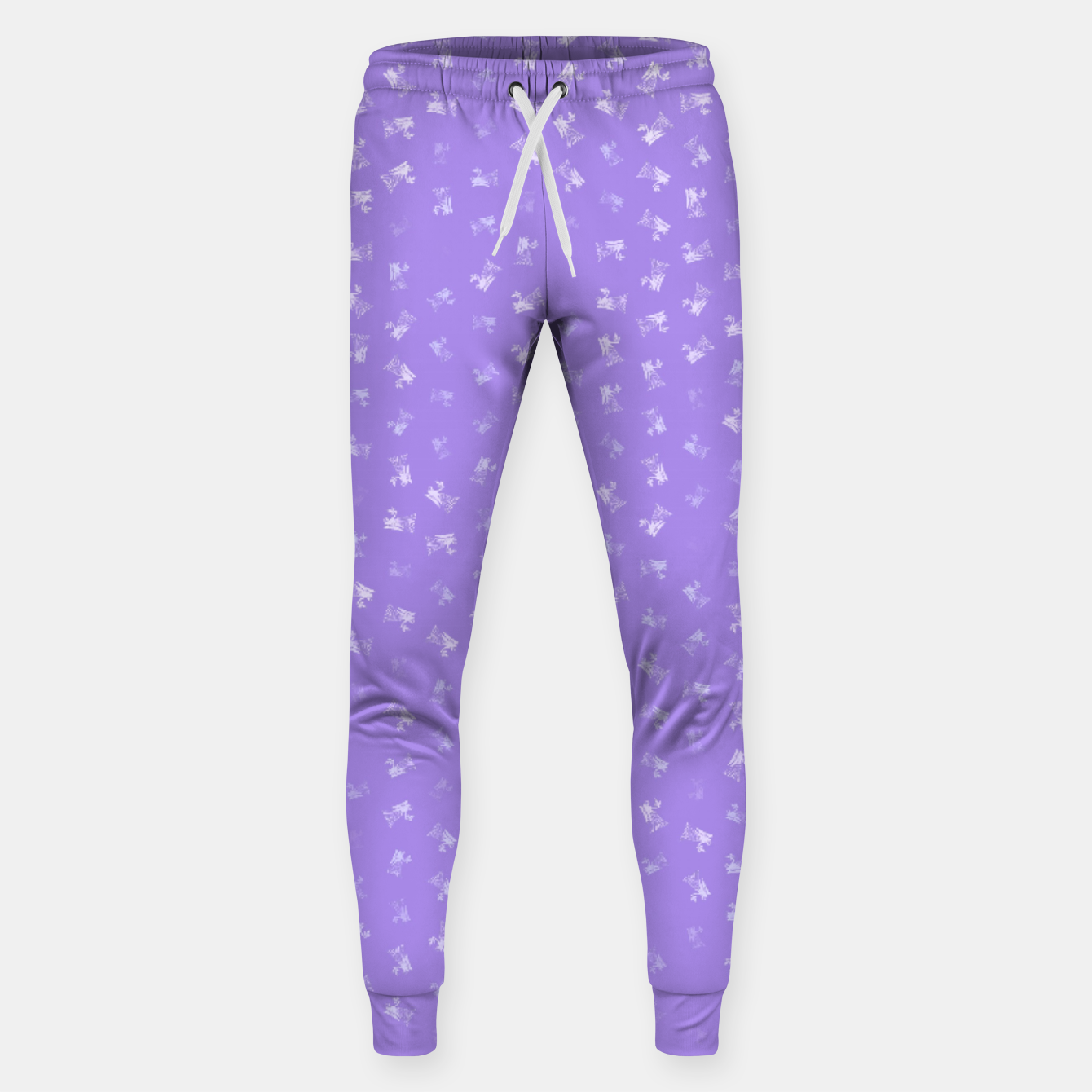 Image of virgo zodiac sign pattern pu Sweatpants - Live Heroes