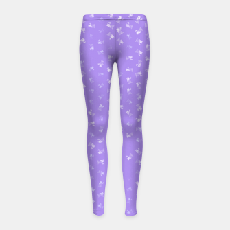 virgo zodiac sign pattern pu Girl's leggings thumbnail image