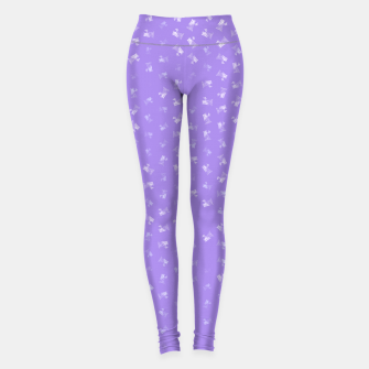 virgo zodiac sign pattern pu Leggings thumbnail image