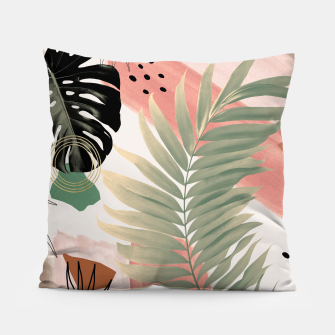 Palm Leaf Summer Glam #1 #tropical #decor #art  Kissen thumbnail image