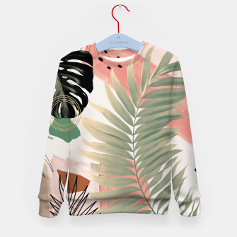 Palm Leaf Summer Glam #1 #tropical #decor #art  Kindersweatshirt thumbnail image